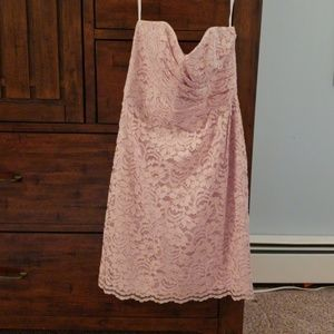 Rose lace strapless dress